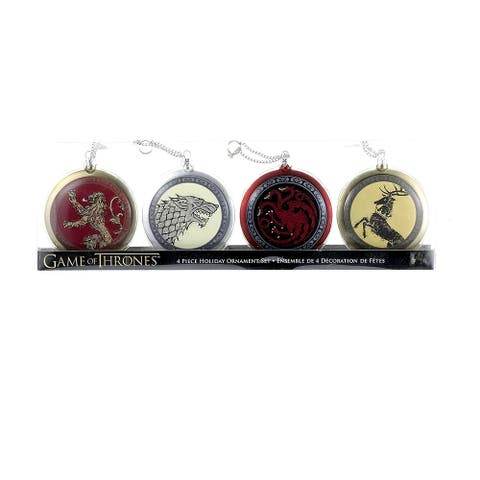 Kurt Adler 80mm Game of Thrones Disc Ornament Set of 4