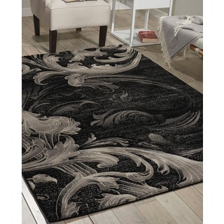 Nourison Soho Black Grey Rug (7'10 x 10'6)