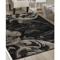 Nourison Soho Black Grey Rug