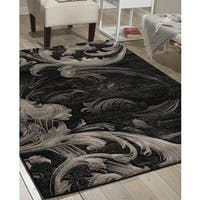 Nourison Soho Black Grey Rug - 7'10 x 10'6