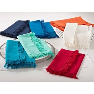 Fringed Design Napkins (set of 4)