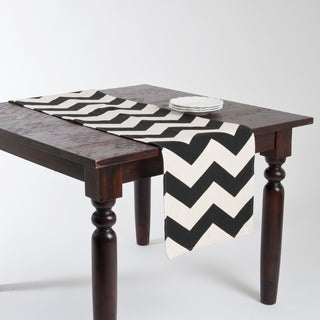Chevron Linen Blend Design Runner