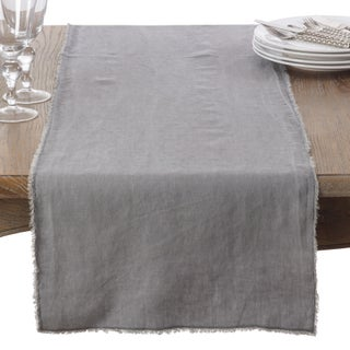 Fringed Linen Design Stone Washed Runner (More options available)