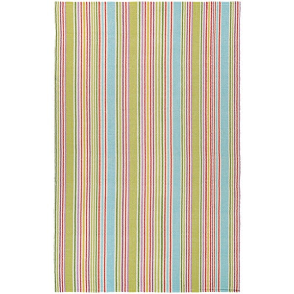 Maine Stay Striped Green Area Rug - 8' x 10'