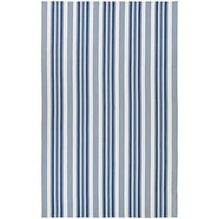 Maine Stay Striped Blue/Gray Area Rug - 8' x 10'