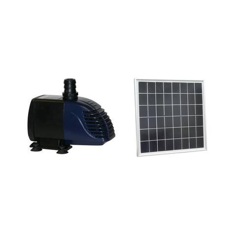Hybrid Powered 280-GPH Solar Panel Hybrid Water Pump