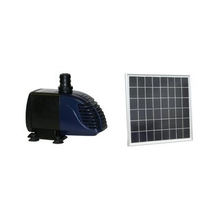 Hybrid Powered 280-GPH Solar Panel Hybrid Water Pump