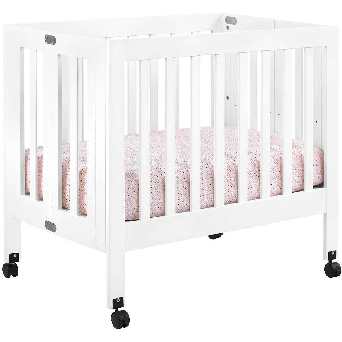 babyletto crib white grey and convertible dresser changer modo piece nursery set in