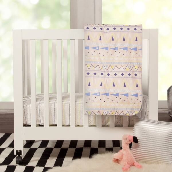 Babyletto - Origami Mini Crib - Petal Pink | West Coast Kids | 600x600