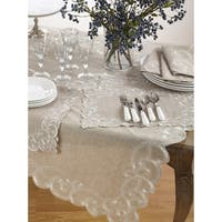 Embroidered Design Linen Blend Table Runner (set of one) or Topper (set of 1) or Placemats (set of 4)