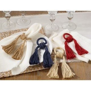 Jute Tassel Napkin Rings (set of 4)