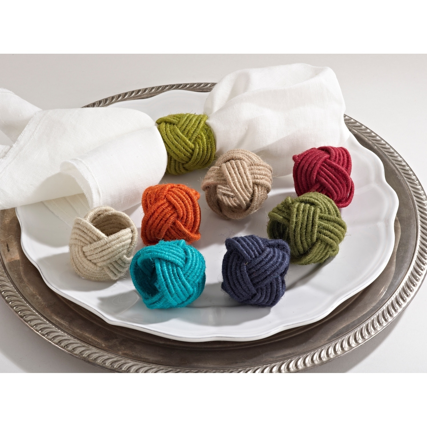 Tabletop Accessories Daily Use And Home Decor Jute Cotton Jute Napkin Rings Sef Of 4 Wedding Handmade Braided Burlap Napkin Ring Natural Woven Rope Serviette Buckles Holder For Table Setting Thanksgiving Day