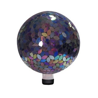 10-inch Purple Mosaic Gazing Ball (Option: Purple)