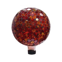 10-inch Red/ Yellow Mosaic Gazing Ball