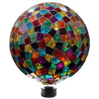 10-inch Red/ Blue/ Yellow Mosaic Gazing Ball (Option: Red)