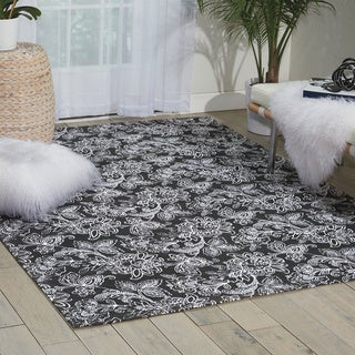 Waverly Art House Belinda Black Area Rug by Nourison (5' x 7')