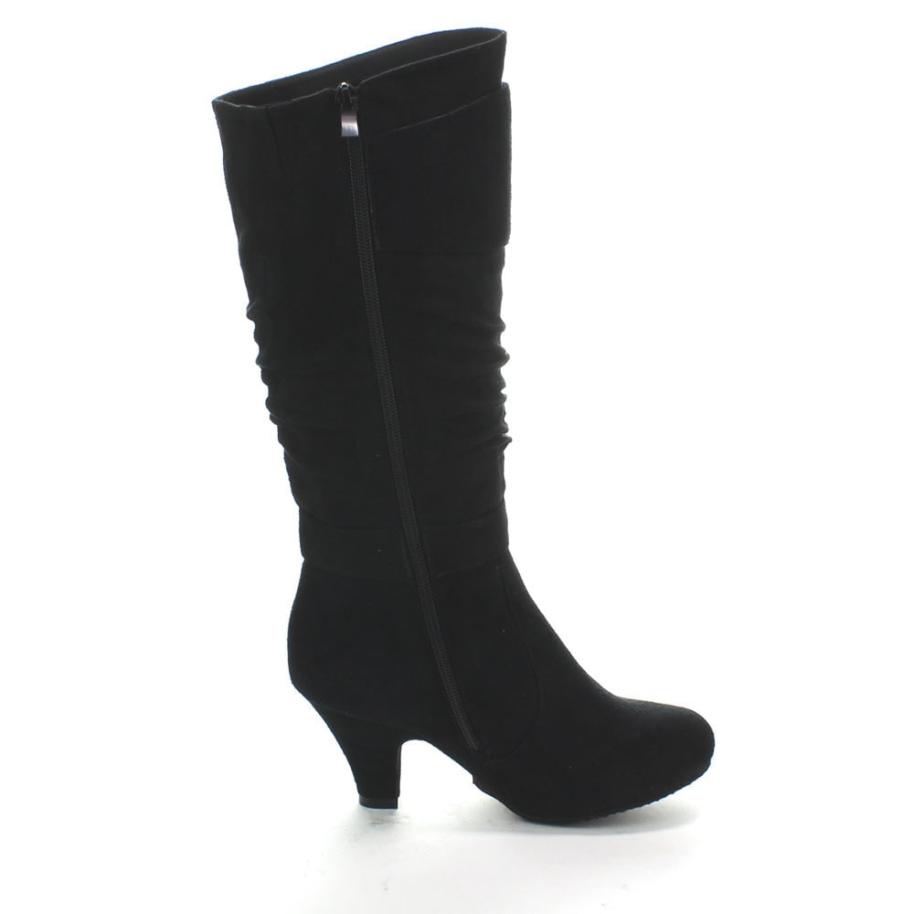 7a85bc677023 Shop Forever Women's 'Maggie-18' Kitty Heel Slouchy Knee-high Boots - Free  Shipping On Orders Over $45 - Overstock - 9512777