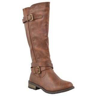 Forever Women's 'Mango-24' Side Zipper Knee-high Riding Boots