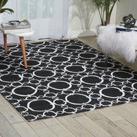 Waverly Art House Connected Black Area Rug by Nourison