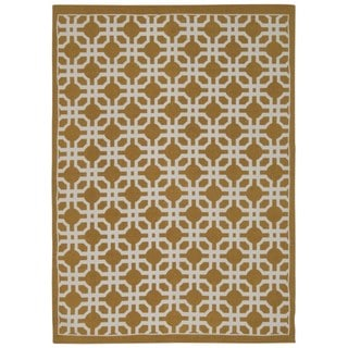 Waverly Art House Groovy Grille Gold Area Rug by Nourison (5' x 7')