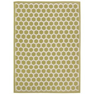 Waverly Art House Symmetry Moss Area Rug by Nourison (5' x 7')