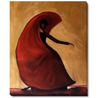 Justyna Kopania 'Flamenco Hand-painted Framed Canvas Art