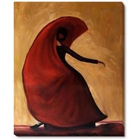Justyna Kopania 'Flamenco Hand-painted Framed Canvas Art