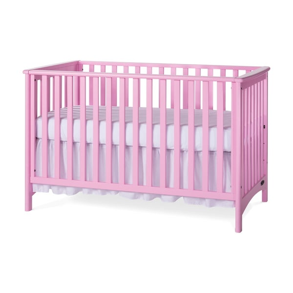 Child Craft Pink London 3-in-1 Stationary Crib