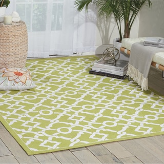 Waverly Art House Artistic Twist Moss Area Rug by Nourison (5' x 7')