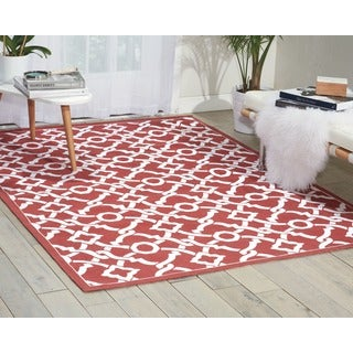 Waverly Art House Artistic Twist Poppy Area Rug by Nourison (5' x 7')