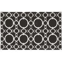Waverly Art House Connected Black Area Rug by Nourison (2'3 x 3'9)