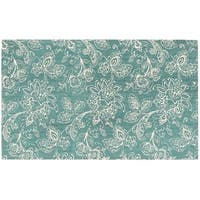 Waverly Art House Belinda Teal Area Rug by Nourison (2'3 x 3'9)