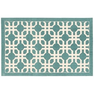 Waverly Art House Groovy Grille Teal Area Rug by Nourison (2'3 x 3'9)