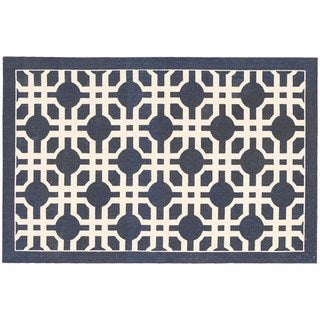 Waverly Art House Groovy Grille Ocean Area Rug by Nourison (2'3 x 3'9)