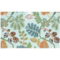Waverly Art House A New Leaf Blue Area Rug by Nourison - 2'3 x 3'9