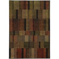 "Geometric Brown/ Green (6'7 x 9'6) - 6'7"" x 9'6"""
