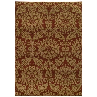 Floral Rust/ Taupe (5'3 x 7'6)