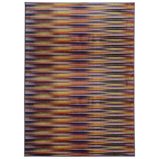 Pantone Universe Prismatic Nylon Lavender/ Red (3'5 x 5'5)