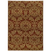 Floral Rust/ Taupe (3'10 x 5'5)