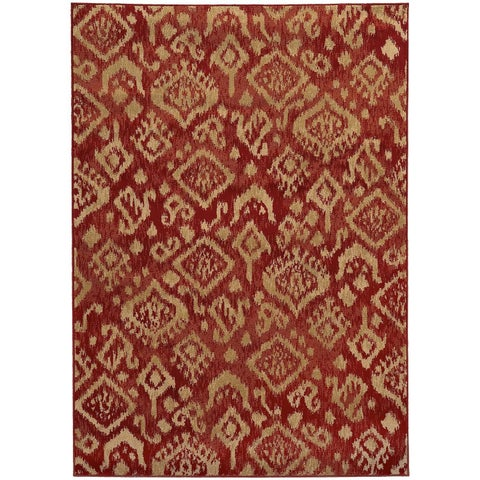 Tribal Ikat Rug (5'3 x 7'3)