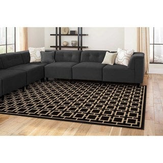 Geometric Square Lattice Rug (5'3 x 7'3)