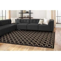 Geometric Square Lattice Rug - 5'3 x 7'3