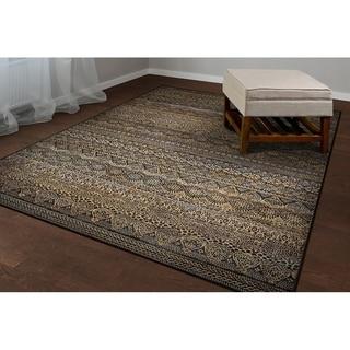 Couristan Easton Capella Brown/ Multi Rug (7'10 x 11'2)