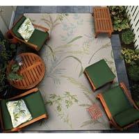 Couristan Dolce Sand Dune Beige-Multicolor Indoor/Outdoor Rug - 8'1 x 11'2