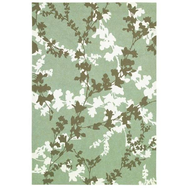 Couristan Covington Willow Branch Sage- Ivory Indoor/Outdoor Rug - 8' x 11'