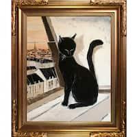 Atelier De Jiel 'Black Cat is a Paris' Master Framed Fine Art Print