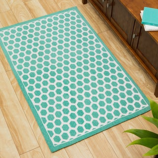 Waverly Art House Symmetry Teal Area Rug by Nourison (2'3 x 3'9)