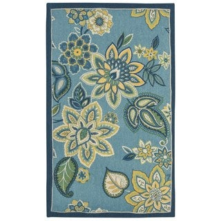 Waverly Art House Lively Trail Sapphire Area Rug by Nourison (2'3 x 3'9)