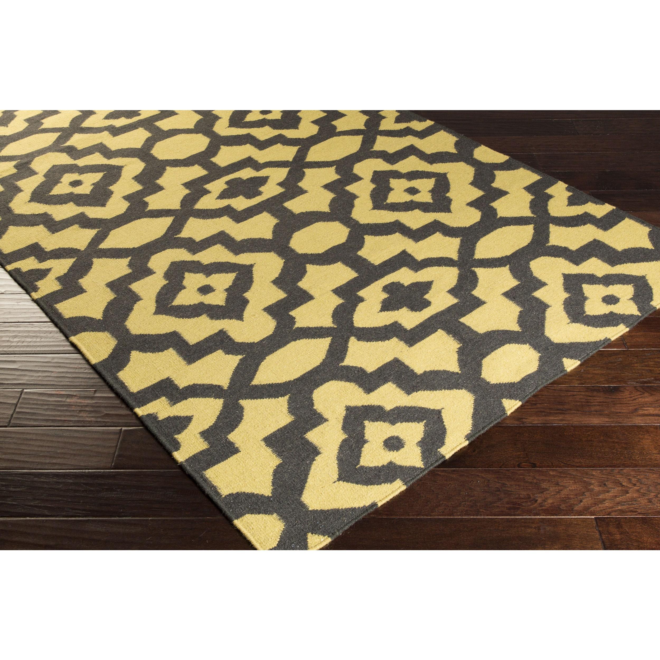 Hand-woven Darcy Geometric Flatweave Wool Rug (2' x 3') (...