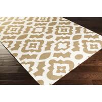 Hand-woven Darcy Geometric Flatweave Wool Area Rug - 2' x 3'